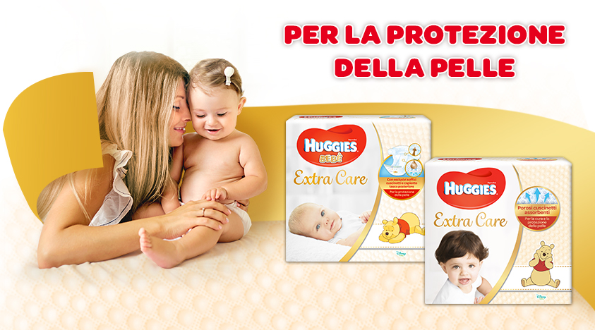 Pannolini Huggies Extra Care - presentazione