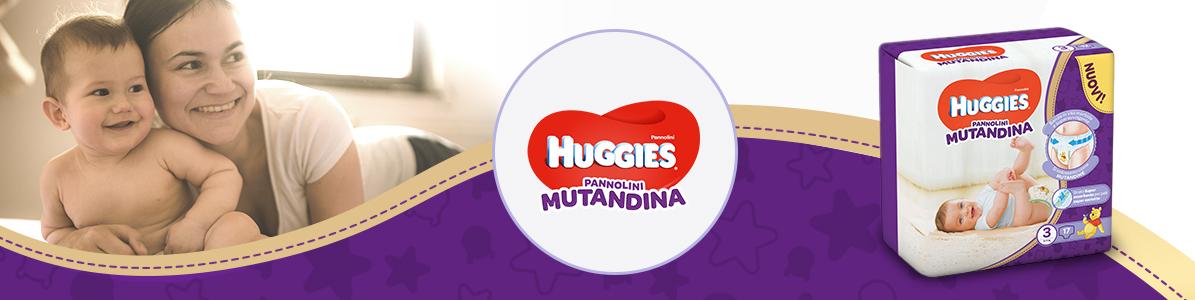Pannolini mutandina Huggies presentazione
